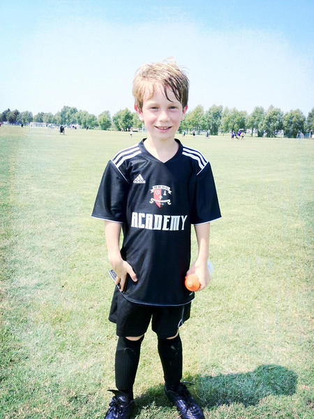 Team Fusion 2013. Gabe scores 2 goals at his first game.