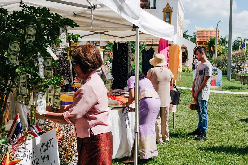 Money Tree at Thai Food Festival at Wat Buddharangsi Buddhist Temple of Miami 2018