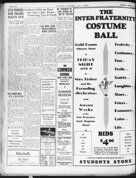Daily Trojan, Vol. 22, No. 117, April 07, 1931