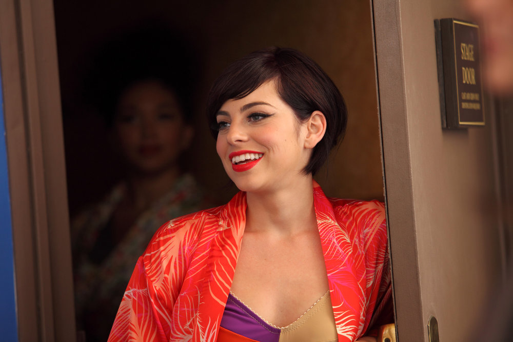 """. SMASH -- \""""On Broadway\"""" Episode 201 -- Pictured: Krysta Rodriguez as Ana Vargas -- (Photo by: Eric Liebowitz/NBC)"""