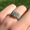 2.10ct Art Deco Peruzzi Cut Diamond Ring, GIA W-X SI2 1