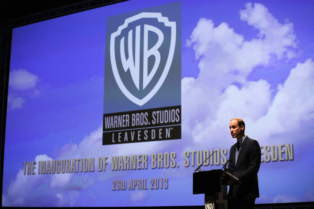 . Prince William, Duke of Cambridge makes a speech at the Inauguration Of Warner Bros. Studios Leavesden on April 26, 2013 in London, England.  (Photo by Paul Rogers - WPA Pool/Getty Images)
