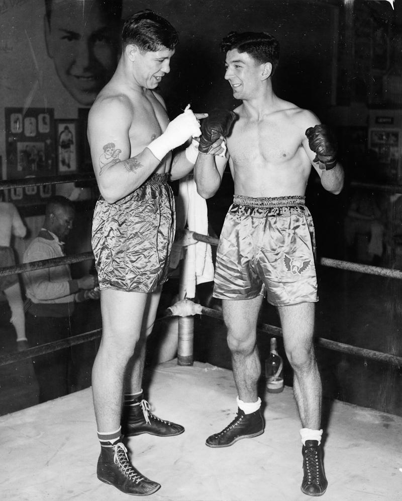 . Oakland, CA Circa 1938 - Domingo Valin of Hayward (left) and Manuel Figuerra. (Mose Cohen / Oakland Tribune)