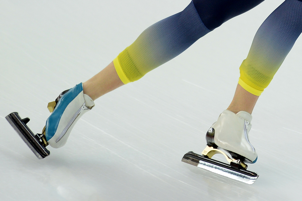 . Kazakhstan\'s Dmitriy Babenko competes in the Men\'s Speed Skating 5000m at the Adler Arena during the 2014 Sochi Winter Olympics on February 8, 2014.  (JUNG YEON-JE/AFP/Getty Images)