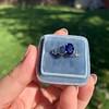 2.08ctw Sapphire and Diamond Ring, GIA No-Heat 8