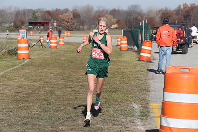 D3 Girls at 2 Miles Section 1 - 2020 MHSAA LP XC