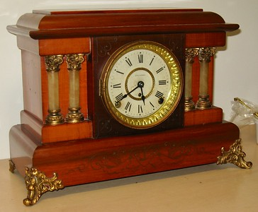 Red Seth Thomas Adamantine Mantel Clock, April 1902