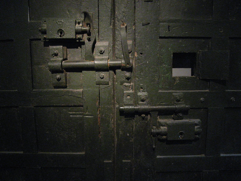 A door at the Hanoi Hilton.