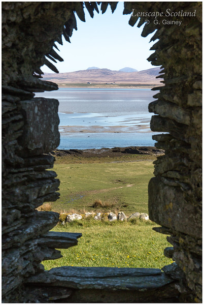 Loch Gruinart and Paps of Jura from Kilnave Chapel