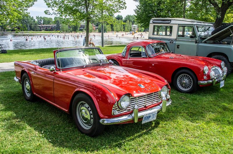 1962 Triumph TR4 and 1957 MG MGA Coupe