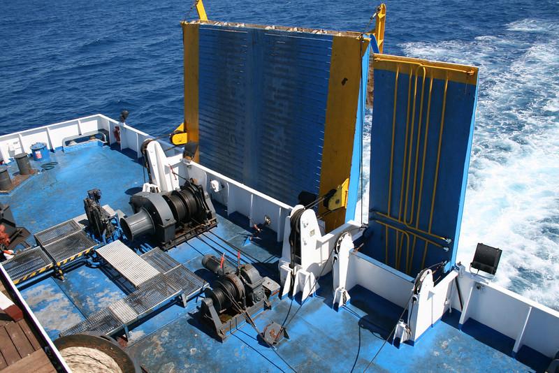 2010 - On board F/B ELLI T : stern operating station.