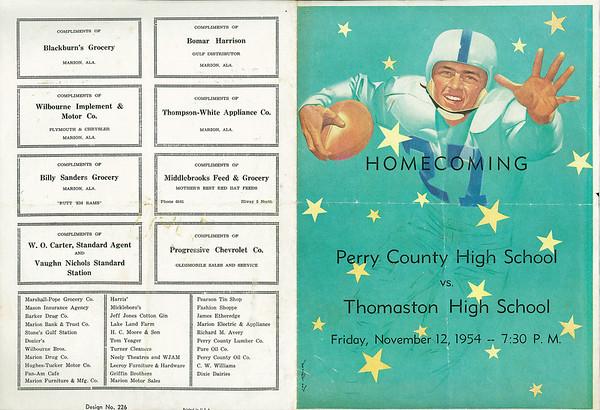 Homecoming Football Program -1954