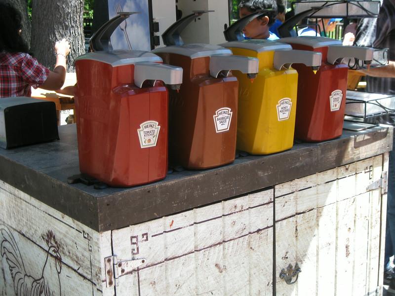 Chicken Coop condiments.