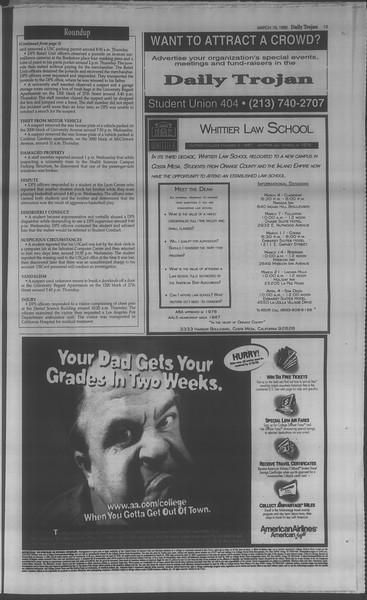 Daily Trojan, Vol. 133, No. 40, March 19, 1998