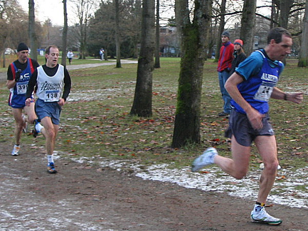 2005 Canadian XC Championships - The newfie has a bit of a gap - 1K to go