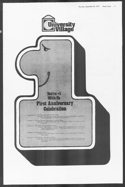 Daily Trojan, Vol. 72, No. 9, September 29, 1977