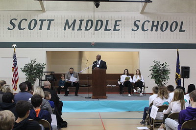 Annual MLK celebration at Scott Middle School