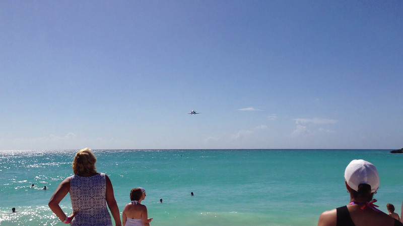 Another awesome flyover at Princess Juliana International Airport in St. Maarten