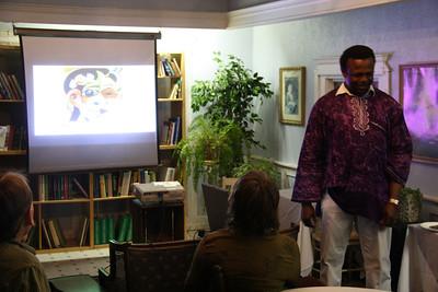 Nigerian Arts Ambassador, Stonehedge Gardens, South Tamaqua (2-17-2012)