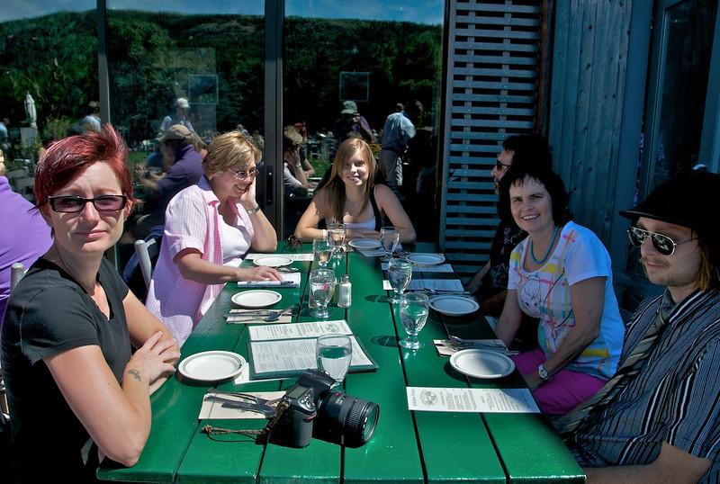 Birthday lunch at Jordan Pond House