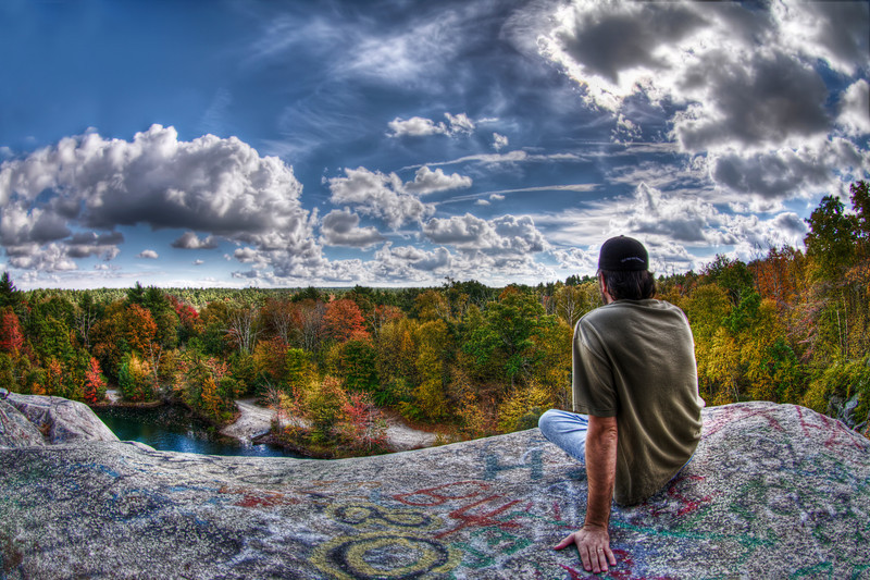 """Chillin' at the Top of The Ledge"" October 14th, 2010  On top of The Assonet Ledge Freetown State Forest, MA"