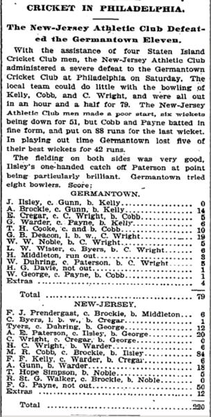 NJAC vs Germantown July 1894