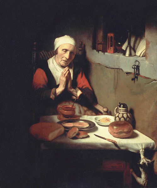 1656c Nicolaes Maes Old Woman in Prayer oil on canvas 134 x 113 xm Rijksmuseum, Amsterdam.jpg