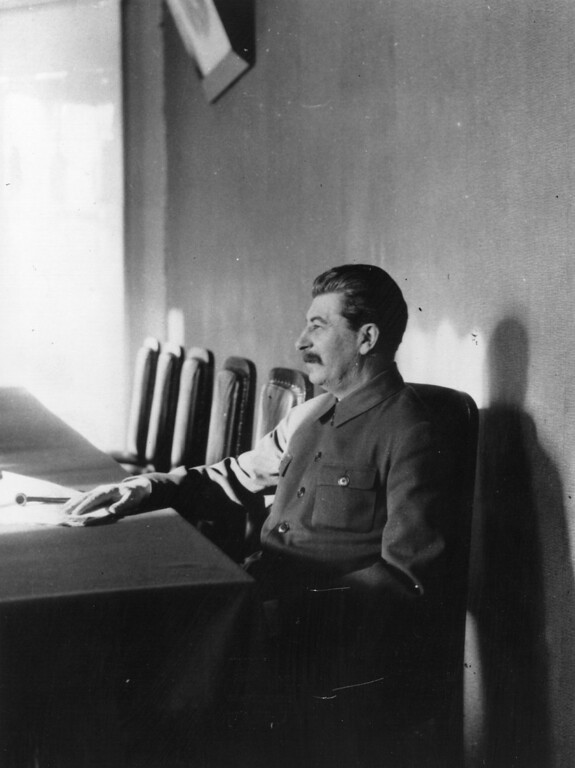 . April 1932:  Joseph Stalin, Soviet Communist leader from the mid-1920s until his death in 1953. Among the Bolshevik revolutionaries who took part in the Russian Revolution of 1917, Stalin was appointed General Secretary of the party\'s Central Committee in 1922. He subsequently managed to consolidate power following the 1924 death of Vladimir Lenin through expanding the functions of his role, all the while eliminating any opposition. He held this nominal post until abolishing it in 1952, concurrently serving as the Premier of the Soviet Union after establishing the position in 1941.  (Photo by James Abbe/General Photographic Agency/Getty Images)