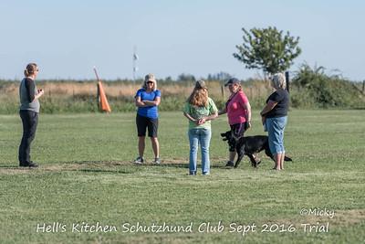 Hell's Kitchen Schutzhund Club Sept 2016 Trial