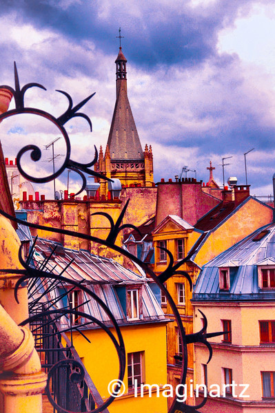Rooftops in Vieux Paris