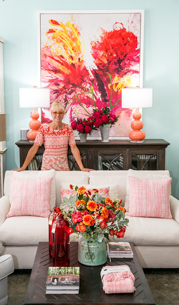 Stephanie Nieuwendijk-Bramble is the owner and creative director at Dutchmans Designs in Chamblee.  They have sister stores in St. Simons and Highlands, NC.  The solid wooden furniture is customized stylishly.  Lighting fixtures and options are mixed in with textured fabrics, sophisticated colors and quality design.  (Jenni Girtman / Atlanta Event Photography