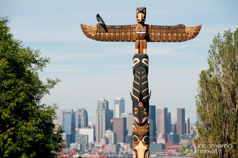 Native American Totem Pole - Seattle, Washington