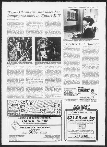 Summer Trojan, Vol. 99, No. 4, June 12, 1985