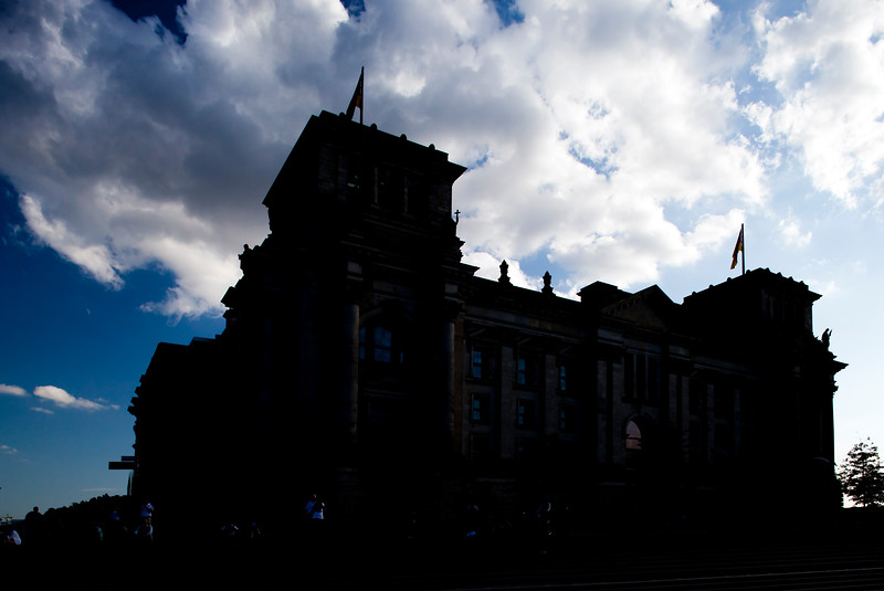 Silhouette of the Reichstag, Berlin, Germany