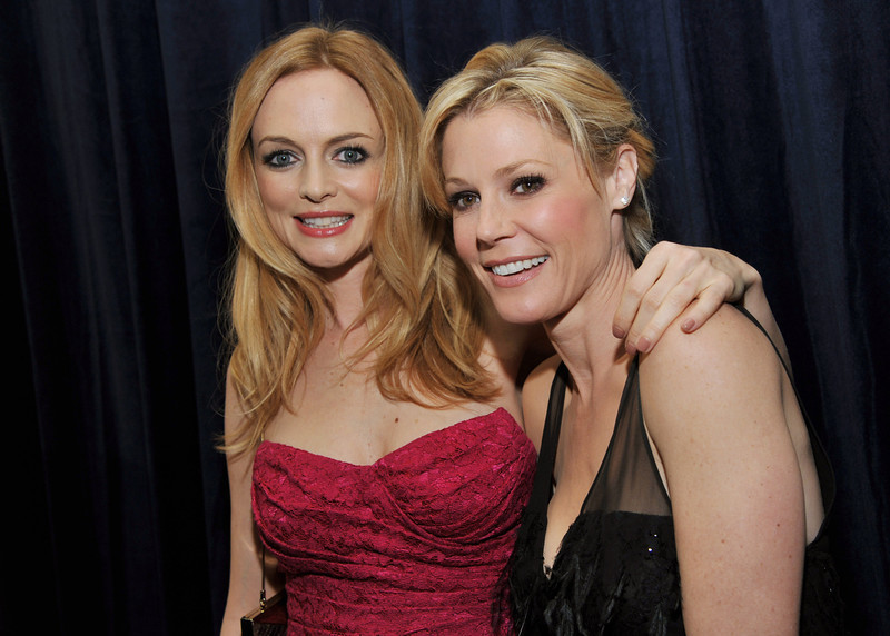 ". Actresses Heather Graham, left, and Julie Bowen pose together at the L.A. Gay and Lesbian Center\'s ""An Evening\"" at the Beverly Wilshire on Thursday, March 21, 2013 in Beverly Hills, Calif. (Photo by Chris Pizzello/Invision/AP)"