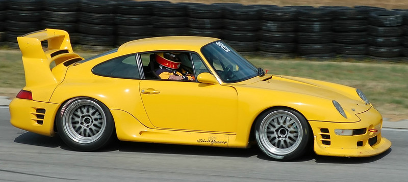 HOLD ON!  Well-known Ruf Porsche driver Steve Beddor gives another victim a pretty scary ride in his 650HP RUF CTR2 Sport during a private track session at Virginia Intl. Raceway