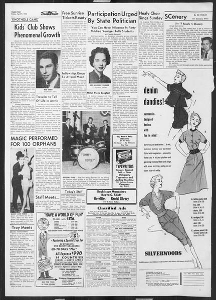 Daily Trojan, Vol. 45, No. 112, April 09, 1954