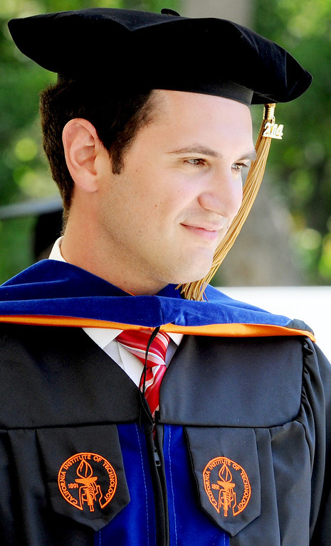 . Daniel Aaron Stolper, son of Caltech President, Edward Stolper received aa Doctor of Philosophy Degree in Geobiology at the 120th Annual Commencement at California Institute of Technology Friday, June 13, 2014.(Photo by Walt Mancini/Pasadena Star-News)