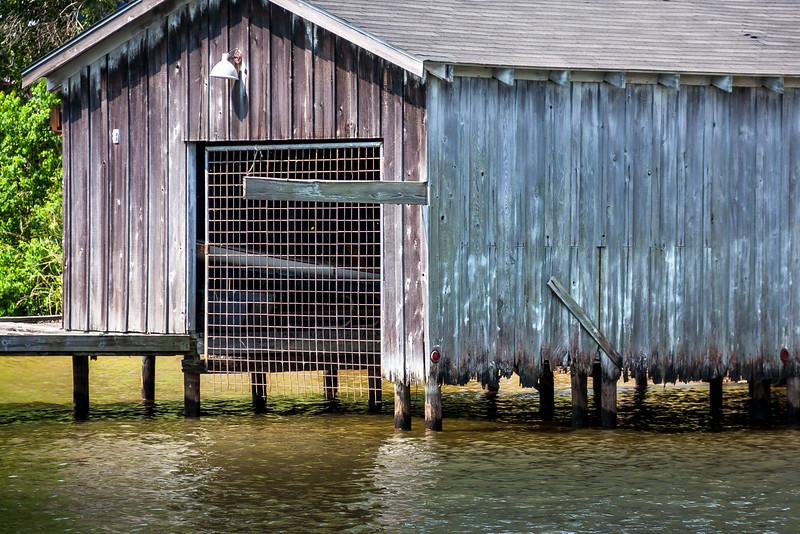 fringed boathouse