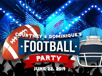 Courtney & Dominique's Football Party!