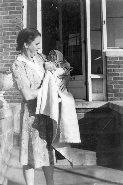 Grandma Lindzy and Bud (abt 3 wkds old)