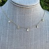 1.01ctw Trillion Rose Cut Diamond Scatter Necklace 29