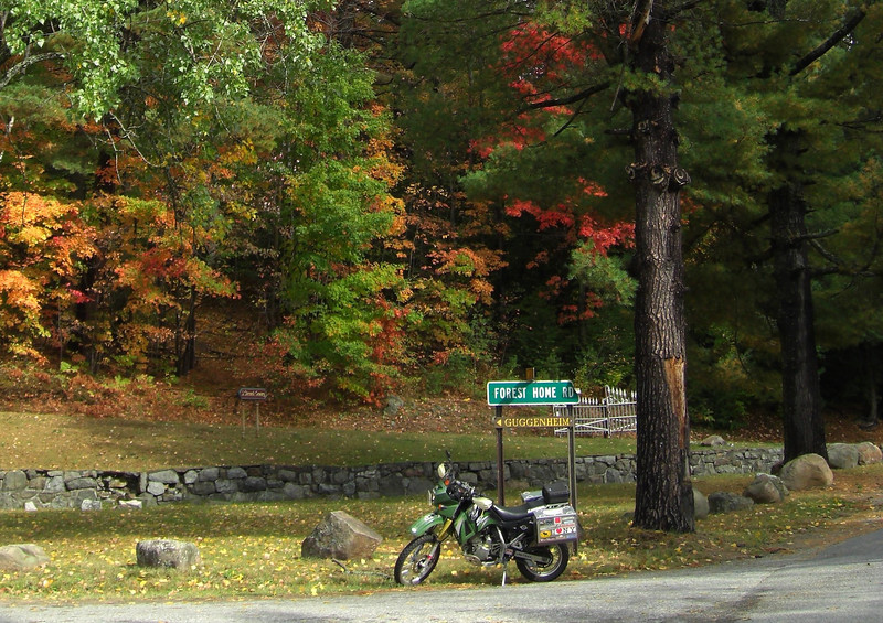Start of the Forest Home Rd, Saranac Lake end
