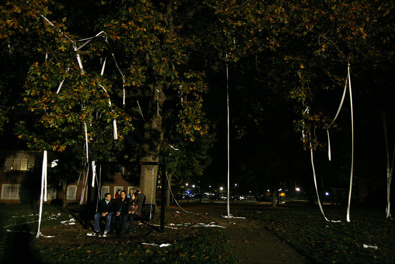 "Several trees on the Quad ended up ""TPed"" around midnight Friday night, despite the school's best efforts to keep Homecoming pranks to a minimum."