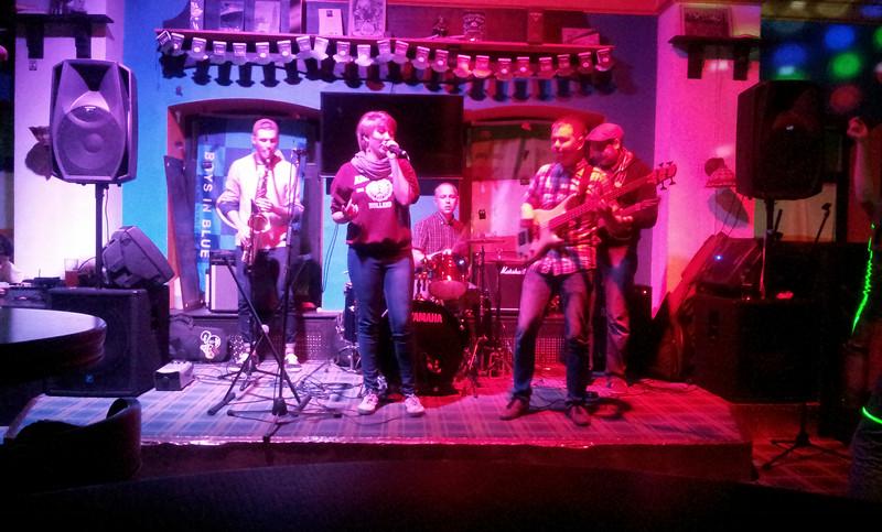Russian band playing in Harat's Irish Pub