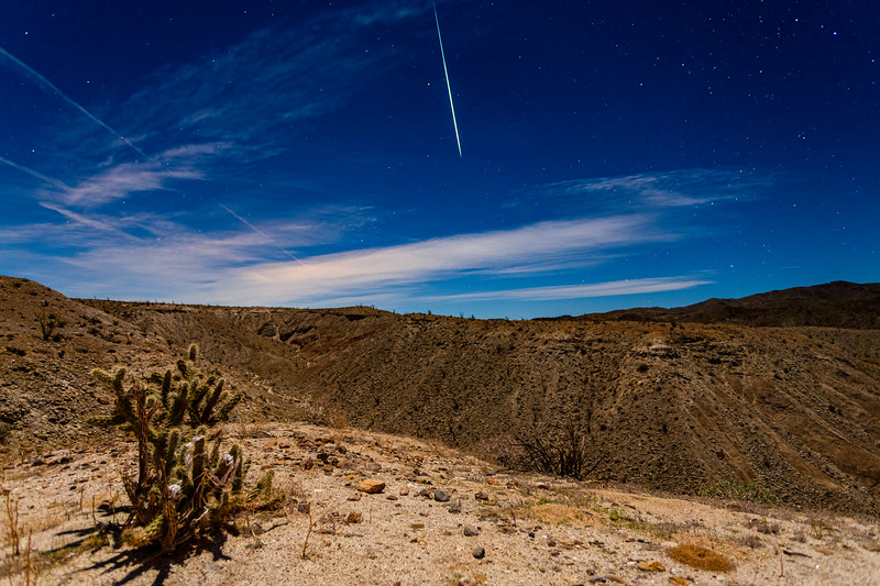 Geminid Meteor Fireball Over The Anza-Borrego Desert.