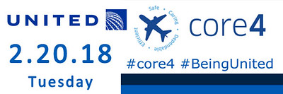 United Airlines core4 2.20.2018 - #core4 #BeingUnited