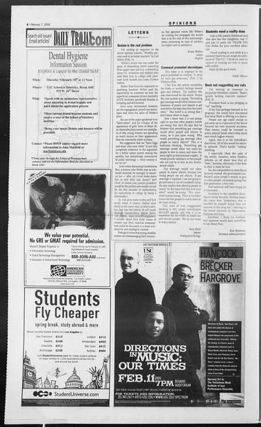 Daily Trojan, Vol. 154, No. 18, February 07, 2005