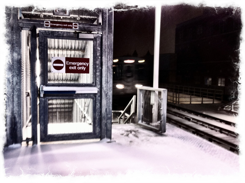 last chance to escape Old Man Winter's express train (iPhoneography)