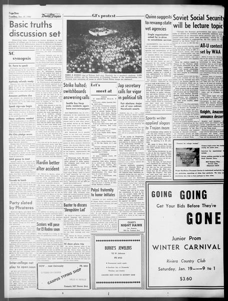 Daily Trojan, Vol. 37, No. 49, January 15, 1946